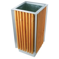 Square wooden bin 65 L