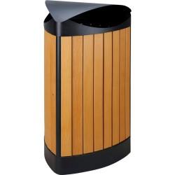 Wooden triangular bin 60 L