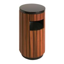 Round wooden bin 33 L