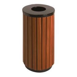Round wooden bin 40 L