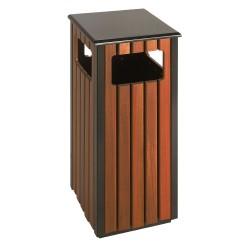 Square wooden bin 36 L