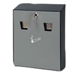 Wall-mounted ashtray with lock