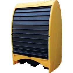 Storage shelter for 2 drums