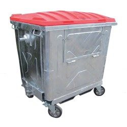 Steel container with...