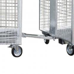 Drawbar for 4-wheeled steel...