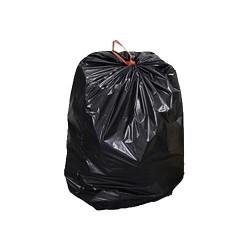 Plastic bag with drawstring...